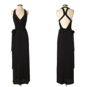 BCBG Black Red Carpet Backless Jersey Gown- Sz. XS